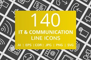 141 IT & Communication Line Icons