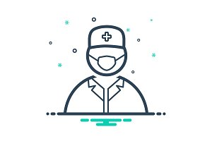 Surgeon doctor icon