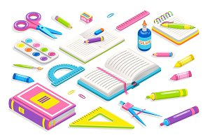 School Chancery Collection Vector