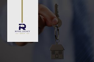 2 in 1 Letter R Real Estate Logo