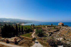 Panorama view of Ancient Byblos ruin
