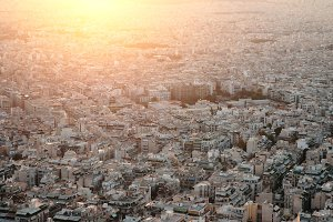 Sunset in Athens.