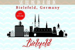Bielefeld SVG skyline Germany City
