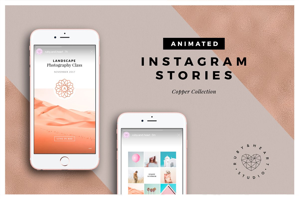 ANIMATED Copper Instagram Stories ~ Instagram Templates