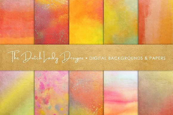 Golden Rainbow Scrapbook Papers