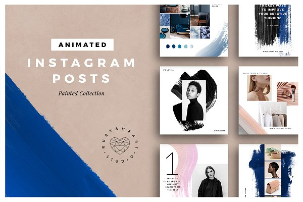 ANIMATED Painted Instagram Posts