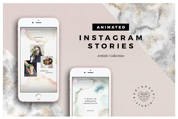 ANIMATED Artistic Instagram Stories
