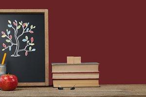 Tree Education drawing on blackboard