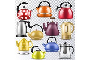 Kettle vector teakettle or teapot to