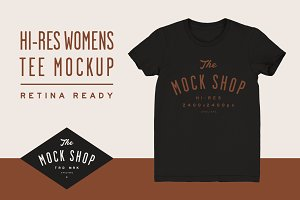 TMS Pro: Womens Tee Mockup
