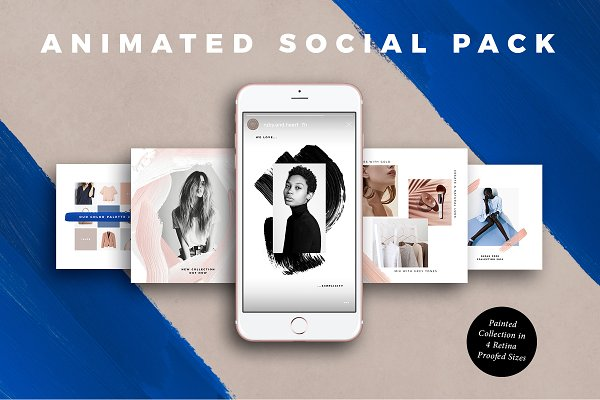 ANIMATED Painted Social Media Pack