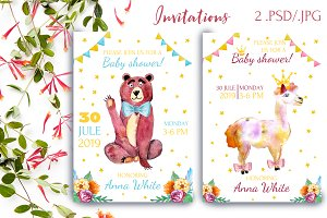 Invitations for a babe shower
