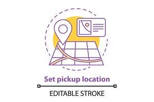 Setting location concept icon