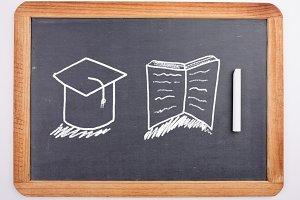 Education drawing on blackboard
