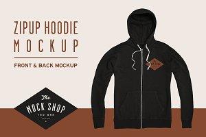 Zipup Hoodie Mockup