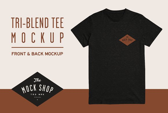 Download Tri-Blend Tee Mockup