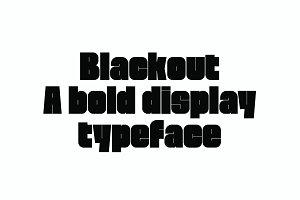 Blackout | High Contrast Font
