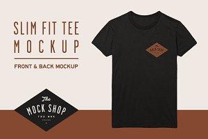 Slim Fit Tee Mockup