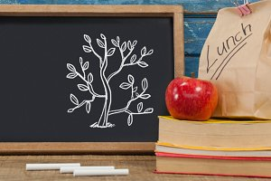 Tree Education drawing on blackboard