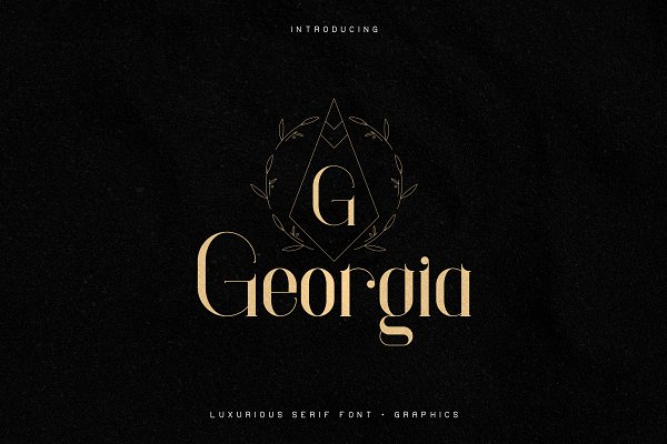 Georgia Luxurious Serif font + Extra
