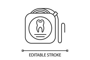 Dental floss linear icon