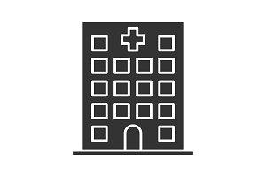 Hospital glyph icon