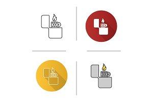 Flip lighter icon