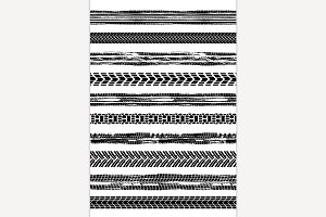 Seamless tire marks brushes