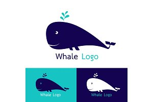 Whale logo Vector illustration