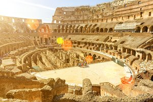 Inside of Colosseum (Coliseum)