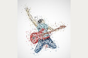 Abstract Guitarist