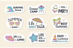 Summer poster card.