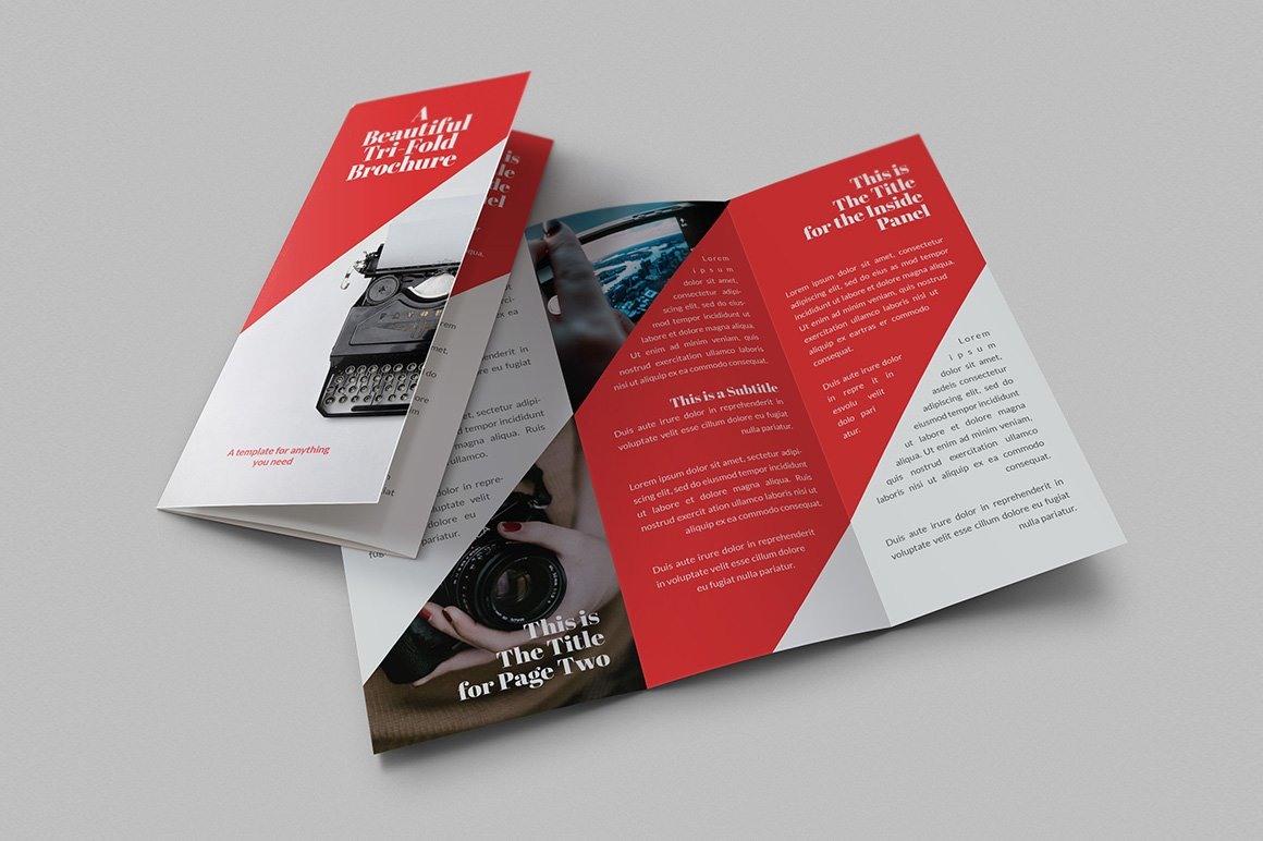 Beautiful TriFold Brochures Brochure Templates Creative Market - 2 fold brochure template free