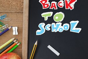 Back to school education writing on