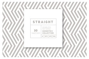 Straight Seamless Patterns Bundle