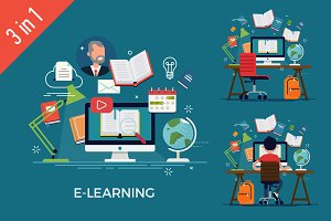 E-Learning Pack 3 in 1