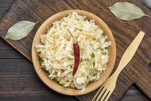 coleslaw salad in bowl
