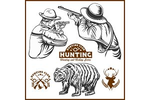 Hunters and bear hunters club logo