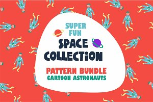"Pattern bundle ""Cartoon space""."