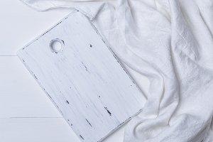 rectangular white cutting board