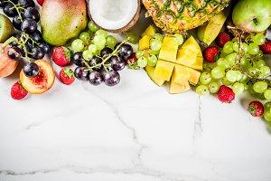 Various tropic fruits