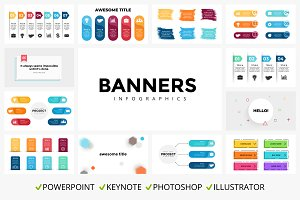 Banners. Infographic templates.