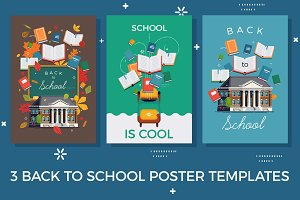 3 Back to School Poster Templates