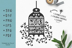 Birdcage - Wedding SVG & Clipart