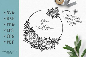 Flower Circle - Wedding SVG Clipart