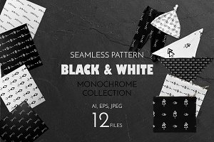 Black and white pattern collection