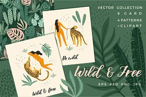 Wild & Free. Vector collection