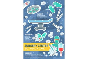 Vector poster of surgery medicine