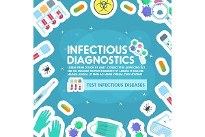 Vector poster of infections and