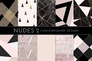 Watercolor Texture Geometric Nude 2